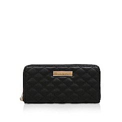 Carvela - Black 'Alis Quilt Wallet' zip around purse