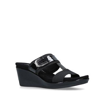 3f9ca83c44f3 Anne Klein - Black  Pax  mid heel mules