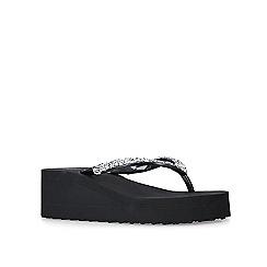 Miss KG - Black 'Jackie2' flatform sandals