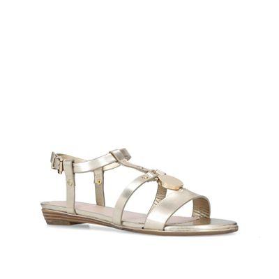 Nine West - Gold 'Shrink' flat sandals