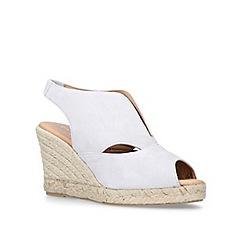 Carvela Comfort - Light 'Sara' grey mid heel wedges