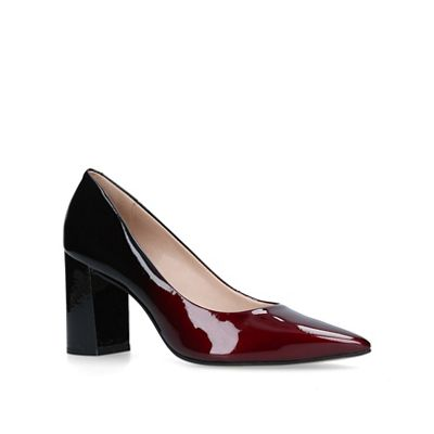 Carvela - Wine 'Albert' block heel court shoes