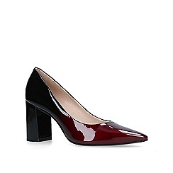 Carvela - Wine 'Albert' block heel court shoes
