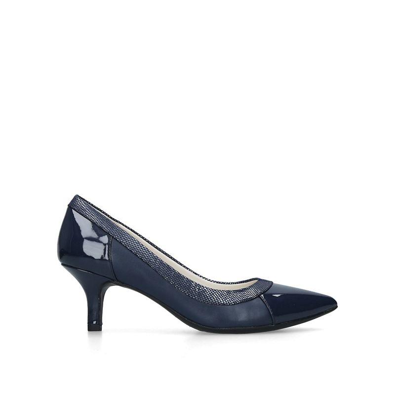 Anne Klein - Navy Fabryce Pointed Toe Court Heels