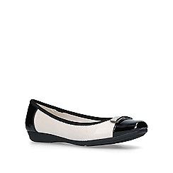 Anne Klein - Black 'Unwrap' and white flat ballerina pumps