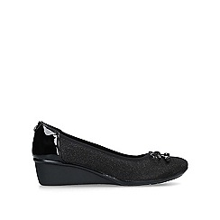Anne Klein - Black 'Darlene' low heel wedge shoes