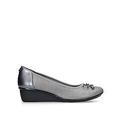 Anne Klein - Metallic 'Darlene' low heel wedge shoes
