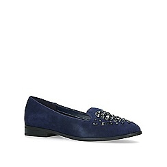 Anne Klein - Navy 'Della' studded loafers
