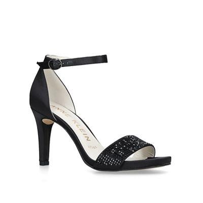 42660497c51 Anne Klein Black  Odree  studded strappy sandals