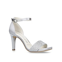 Anne Klein - Metallic 'Odree' silver studded strappy sandals