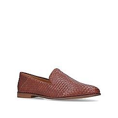 KG Kurt Geiger - Tan 'Adur' woven casual loafers