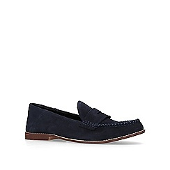 KG Kurt Geiger - Navy 'Apron' suede casual loafers