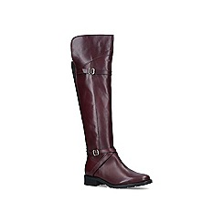 Carvela Comfort - Wine 'Viv' leather high leg boots