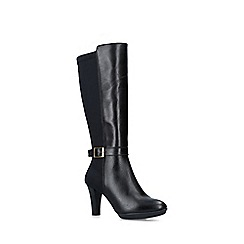 Carvela Comfort - Black 'Vixen' leather cone heel boots