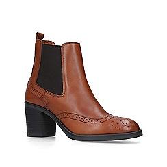 Carvela Comfort - Tan 'Raquel' mid heel chelsea boots