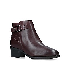 Carvela Comfort - Wine 'Ruby' low heel ankle boots