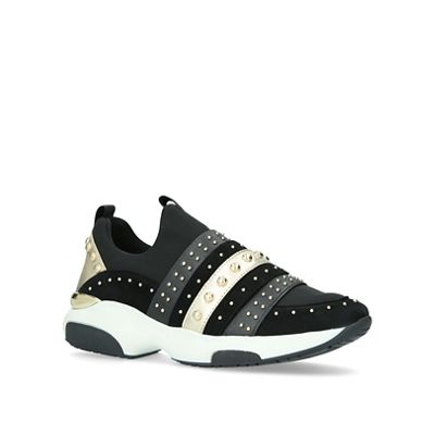 Carvela 'Lucky' - Black 'Lucky' Carvela studded slip on trainers ca28bc