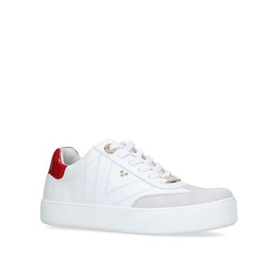 Carvela - White 'Lost' lace up trainers