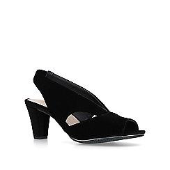 6b53110f1f29 Carvela Comfort - Black  Talia  open toe court heels