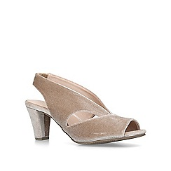 Carvela Comfort - Nude 'Talia' mid heel court shoes