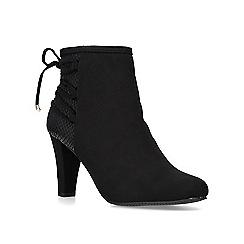 Carvela Comfort - Black 'Tash' mid heel ankle boots