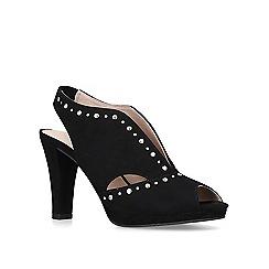 Carvela Comfort - Black 'Tasmin' embellished cut out court shoes