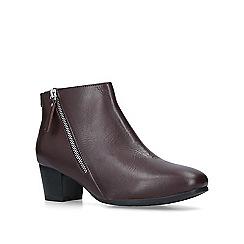 Carvela Comfort - Wine 'Rachel' low heel ankle boots
