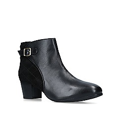 Carvela Comfort - Black 'Rule' leather cone heeled ankle boots