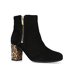 Carvela Comfort - Black 'Rail' mid heel ankle boots