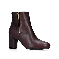 Carvela Comfort - Wine 'Rail' leather heeled ankle boots