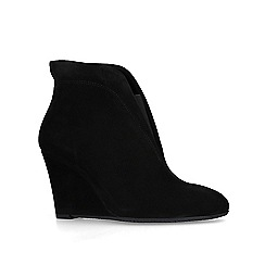 Carvela Comfort - Black 'Rally' suede wedge ankle boots