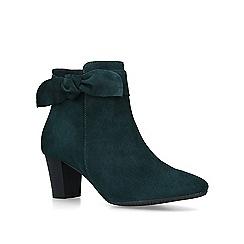 Carvela Comfort - Green 'Rupert' suede block heel ankle boots