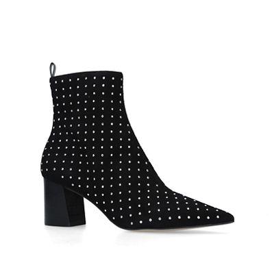 Carvela - Black heeled 'Glitter' studded block heeled Black ankle boots 8afa7c