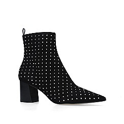 Carvela - Black 'Glitter' studded block heeled ankle boots