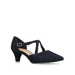 Carvela Comfort - Navy 'Apple' pointed toe court shoes