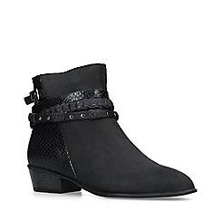 Carvela Comfort - Black 'Tock' low heel ankle boots