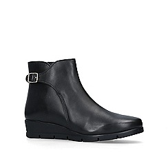 Carvela Comfort - Black 'Rebecca' leather ankle boots