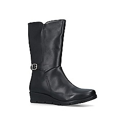 Carvela Comfort - Black 'Reign' low heel calf boots