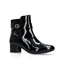 Carvela Comfort - Black 'Renee' patent low heel ankle boots