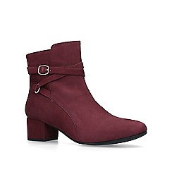 Carvela Comfort - Wine 'Renee' low heel ankle boots