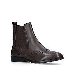 Carvela Comfort - Dark 'Rhea' brown leather chelsea boots