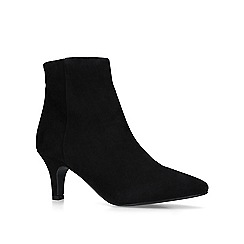 Carvela Comfort - Black 'Romy' mid heel ankle boots