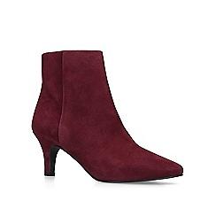 Carvela Comfort - Wine 'Romy' mid heel ankle boots