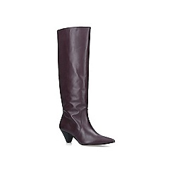 Carvela - Wine 'Whimsy' leather high leg boots