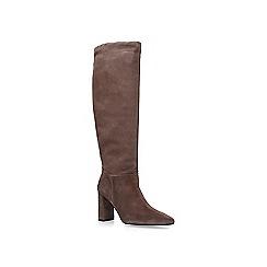 Carvela - Nude 'Wisp' suede block heel high leg boots