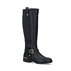 Carvela Comfort - Black 'Taylor' low heel knee high boots