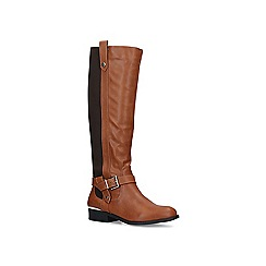 Carvela Comfort - Tan 'Taylor' low heel knee high boots