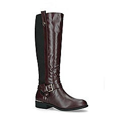 Carvela Comfort - Wine 'Taylor' low heel knee high boots