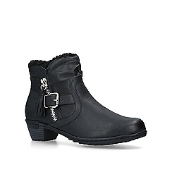 Carvela Comfort - Black 'Treat' block heel ankle boots