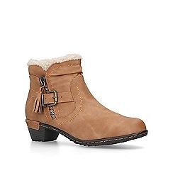 Carvela Comfort - Tan 'Treat' block heel ankle boots